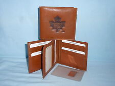 TORONTO MAPLE LEAFS    Leather BiFold Wallet   NEW    brown k 4+