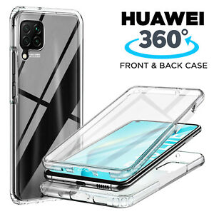 360 Shockproof Case for Huawei Y6 Y7 Y5 2019 Silicone Hard Back Protective Cover