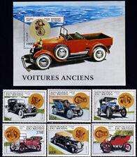 R.Benin -Old Cars-6 St.+1 S/Sh-1997. MNH**,BEN 61/L