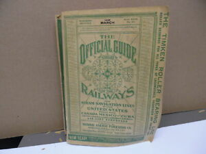 1949 March Official Guide Of Railways Steam Navigation Lines of United States