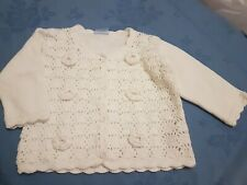 BNWT Baby Girl's Cotton Cardigan By Cherokee Age 6 - 9 Months