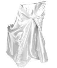 """43 Satin Universal Fit - Self Tie Bow Chair Cover Banquet Folding Wedding 46x54"""""""