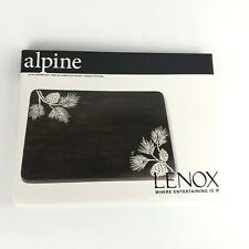 Lenox Alpine Cutting Board or for Cheese Crackers Brown White Pine Cones Rustic