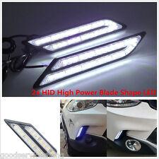 2x Car HID White LED Daytime Running Light DRL Fog Lamp Daylight Blade Shape
