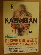Kasabian + The Fratellis - Glasgow dec.2006 tour show concert gig poster