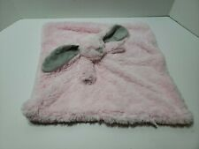 Blankets and Beyond 16x16 Pink Gray Bunny Rabbit Plush Lovey Security Blanket