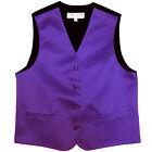 New Boy's Kid's formal Tuxedo Vest Waistcoat only purple US size 2-14 wedding