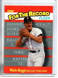 1989 FLEER WADE BOGGS FOR THE RECORD