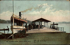 Schiffe Ships USA Vintage Postcard 1908 Steamer Dampfer Wharf Battle Creek Mich.