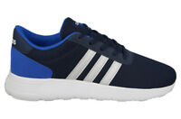 Kids's junior unisex Adidas Neo Lite racer K Trainers Blue navy white AW4053