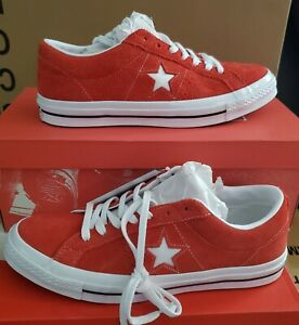 """NEW AUTHENTIC CONVERSE ONE STAR OX  """"RED SUEDE """" MEN'S 11"""