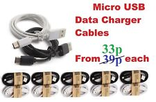 Micro USB Data Sync Cable Charger Lead - Android Samsung HTC Bulk Wholesale