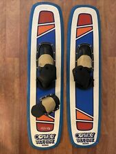 """New listing Pair of Vintage Connelly 42"""" Wide-Trak Tapered Ends Trick Skis Waterski"""