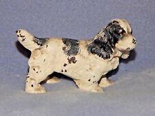 Hubley Antique Cast Iron White Cocker Spaniel Dog Toy Art Statue Paperweight