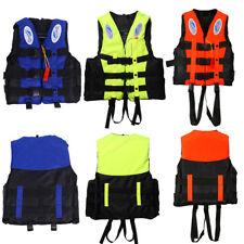 Adult Kids Life Jacket Vest Whistle Polyester Foam Swimming Boating Sailing