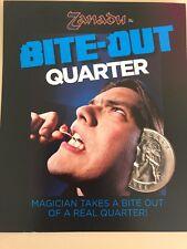 Bite Out Quarter Magic Coin Trick -  Blaine - Precision Made - Easy to Do!