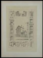 VILLE D'AVRAY, MAISON DE CAMPAGNE  - 1895 - GRANDE LITHOGRAPHIE- LETHOREL