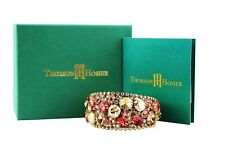 THORSON HOSIER PADPARADSCHA CUFF BRACELET SWAROVSKI NEW $395 USA ORIGINAL BOX