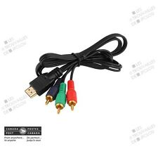1M 3ft HDMI To 3-RCA RGB Video AV Component Adapter Cable **Gold Plated**