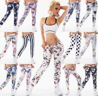 ITALY Damen Hose Sweat Baggy JogPants Freizeithose Blumen Punkte All Over Prints