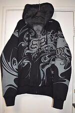 FOX Racing Sasquatch black hoodie faux fur lined