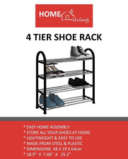 Home Living® 4 Tier Shoe Rack