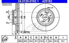 ATE Juego de 2 discos freno Antes 300mm ventilado Para HONDA CR-V 24.0125-0182.1