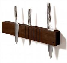Milan Magnetic Knife Holder Leonardo, Walnut