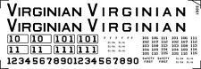 Decals for Virginian EL1A, EL2A and EL3A box motors