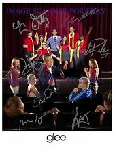 GLEE CAST SIGNED 8x10 RP PHOTO BY 8 MARK SALLING LEA MICHELE CORY MONTEITH +