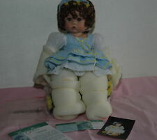 "Buttercup 16"" Sitting By Cindy Marschner Rolfe  Porcelain Cloth Doll Limited Ed"