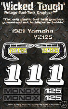 YAMAHA 1981 YZ125 WICKED TOUGH DECAL GRAPHIC KIT