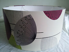 "16"" DRUM LAMPSHADE HANDMADE IN UK WITH  Sanderson Wallpaper  DANDELION CLOCKS"