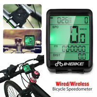 Waterproof Wireless Bicycle Bike Cycle LCD Digital Computer Speedometer Odometer