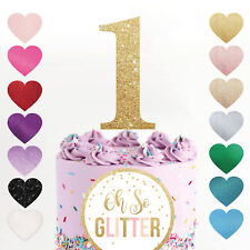 cake topper number age 1 2 first birthday glitter gold rose gold cake smash one