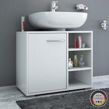Armoire sous-lavabo Meuble bas Mobilier salle de bains Découpe pour siphon blanc