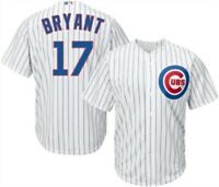 Youth Kris Bryant Chicago Cubs Cool Base Pinstripe Tackle Twill Baseball Jersey
