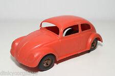SOFT PLASTIC PLASTIK VW VOLKSWAGEN BEETLE KAFER RED SPLIT FRICTION WINDOW RARE
