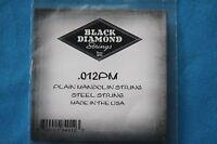 Black Diamond Pair of Plain Steel .012 Gauge Loop End Mandolin Strings, .012PM