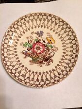 Vintage Collectible Myott Son & Co Bonnie Dundee England Floral Saucer