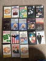 Bundle of 18 Cassette Tapes Ub40 Bryan Ferry Carpenters Simply Red And More