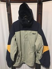 American Eagle AE77 Performance Jacket Cream Black Hooded Nylon XXL Coat
