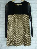 IXIAH Sz 10 Dress Black, Gold sequins evening event