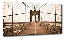 Allison Pearce Brooklyn Bridge Walkway Keilrahmen-Bild Leinwand New York modern
