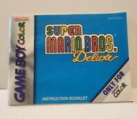 Super Mario Bros Deluxe Gameboy Color Instruction Manual Only