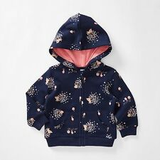 BNWT BABY GIRLS SIZE 000 HOODED ZIP JUMPER HOODIE NEW