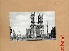 tucks Platin Westminster abbey London posted stamp removed .