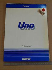 RARO DEPLIANT ORIGINALE FIAT UNO 1989 PRESENTAZIONE IN FRANCESE