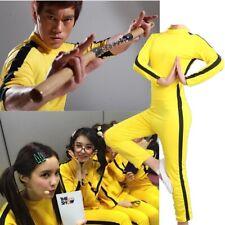 Bruce Lee Jeet Kung Fu Kune Do Chino Mono Disfraz de utilería Zentai Traje