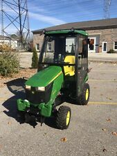 john deere 1025r tractor 31 Hrs, Snow Blower, Log Splitter, Heated Cab